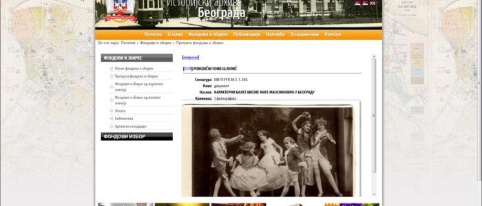 Karakterni balet škole Mage Magazinović u Beogradu